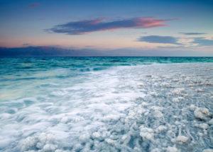 Meersalzablagerungen - hier am Toten Meer