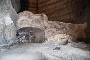Salzmine, in der Steinsalz abgebaut wird